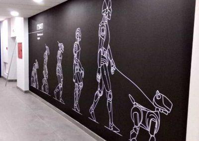 роспись стен в университете