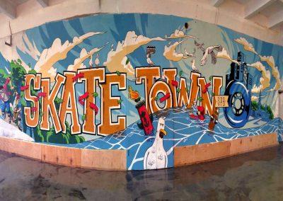 Роспись стен скейтодрома