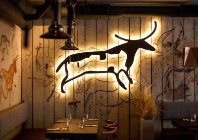роспись стен ресторана
