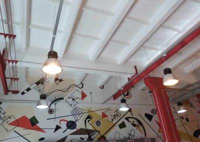 Роспись стен магазина