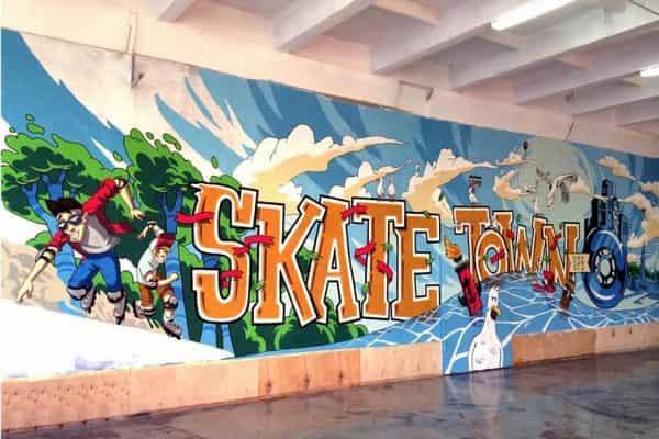 Роспись стен в спортзалах