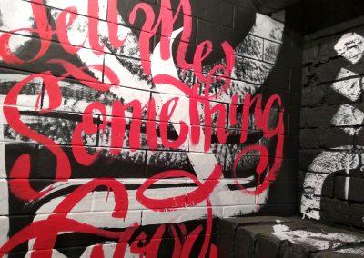 Роспись помещения в баре Punk Brew в Санкт-Петербурге
